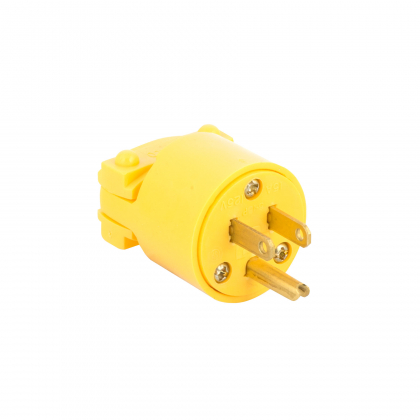Commercial 3 Wire Male Plug End Yellow