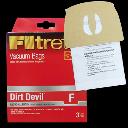 Dirt Devil Microlined Style F Bags 3pk