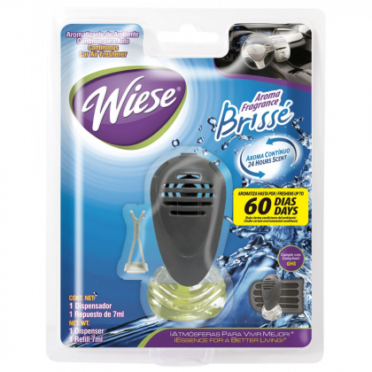 Wiese Brisse Car Air Freshener with Vent Clip 7ml