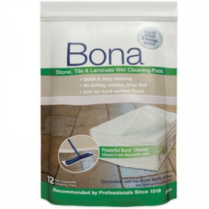 Bona Stone, Tile & Laminate Wet Cleaning Pad 12pk